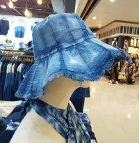 藍染 コットン帽子