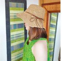 ワイヤー入り 手編み帽子