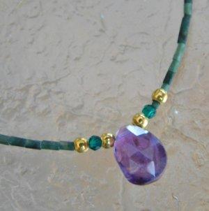 画像1: アメジスト 天然石ネックレス